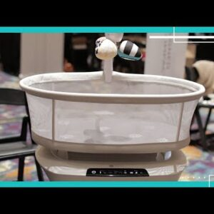 The 4moms mamaRoo sleep bassinet is a smart bed for babies